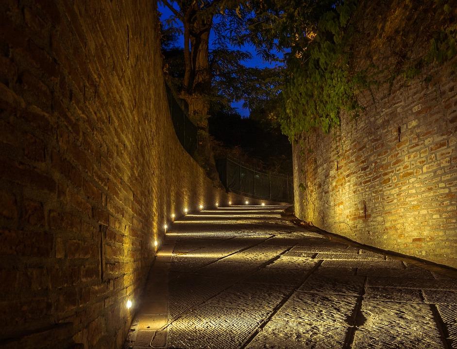 Architecture, Road, Night, Lighting, City, History