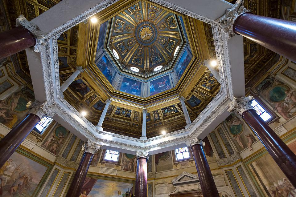 Rome, Church, Architecture, Italy, Religion, Lighting