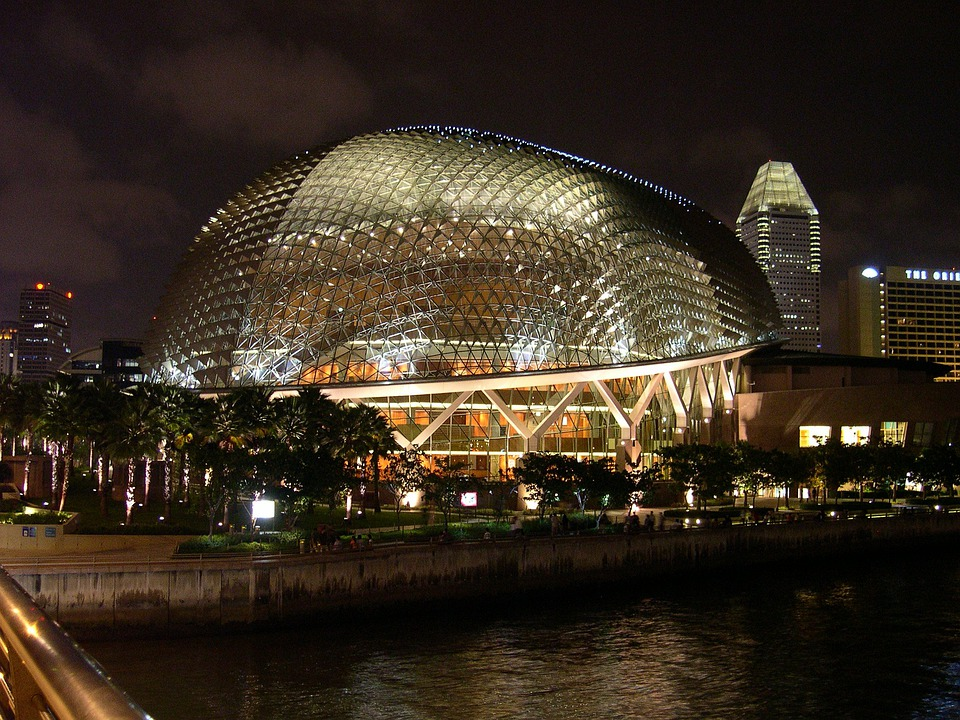 Singapore, Cultural Center, Lights, Night, Lighting