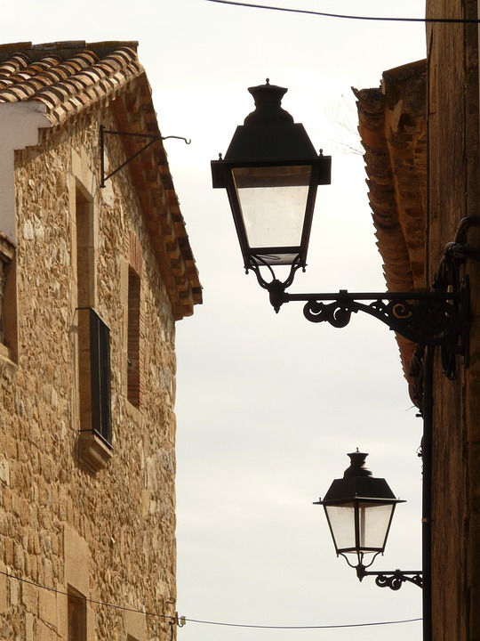 Alley, Road, Street Lanterns, Lighting, City, Village
