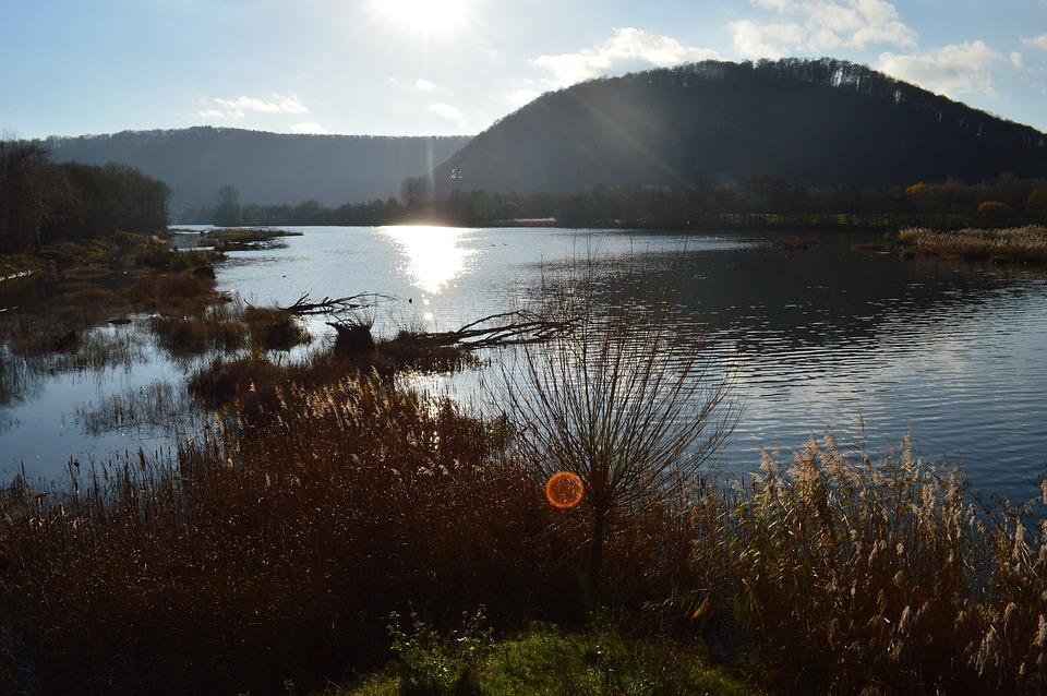 Landscape, Sunset, Saarland, Autumn, Lighting, Sun