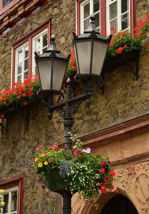 Lantern, Street Lamp, Floral Decorations, Lighting