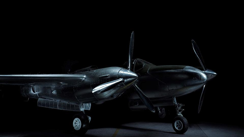 P38, Lightning, Aircraft, Model, Light Painting