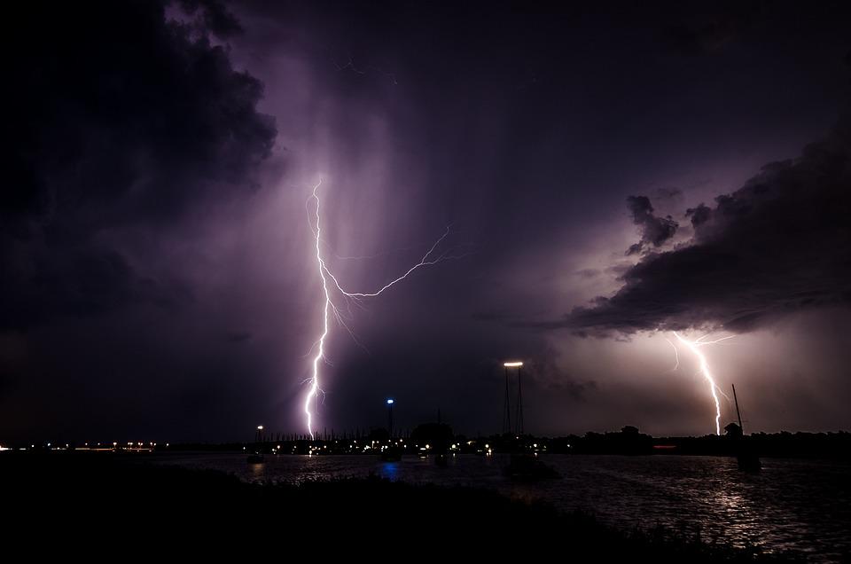Lightning, Lightning Bolt, Night, Storm, Nature