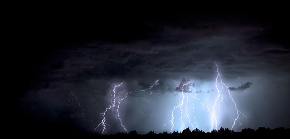 Lightning, Storm, Arizona, Monsoon, Lightning Storm