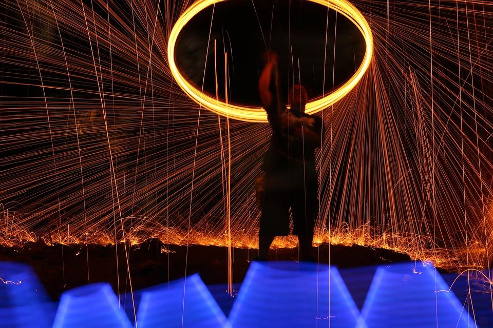 Steelwool, Firespin, Lightplay, Thor-spin, Dark, Spin