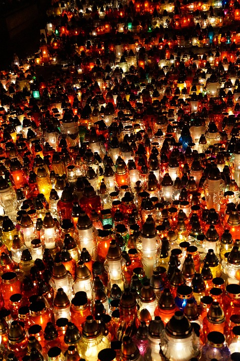 Lights, Candles, All Saints Day, Abstraction, Light
