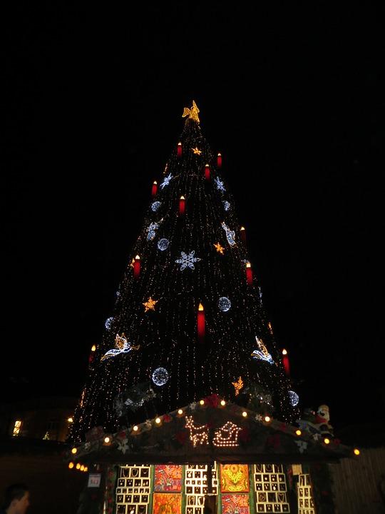 christmas market christmas lights candles angel
