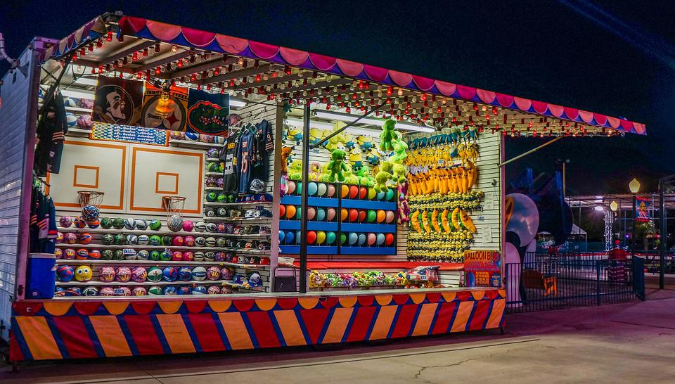 Arcade, Game, Amusement Park, Night, Lights, Play