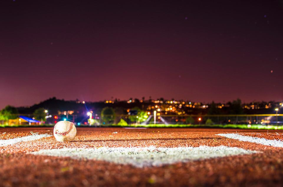 Baseball, Field, Base, Ball, Scenery, Lights, Boca