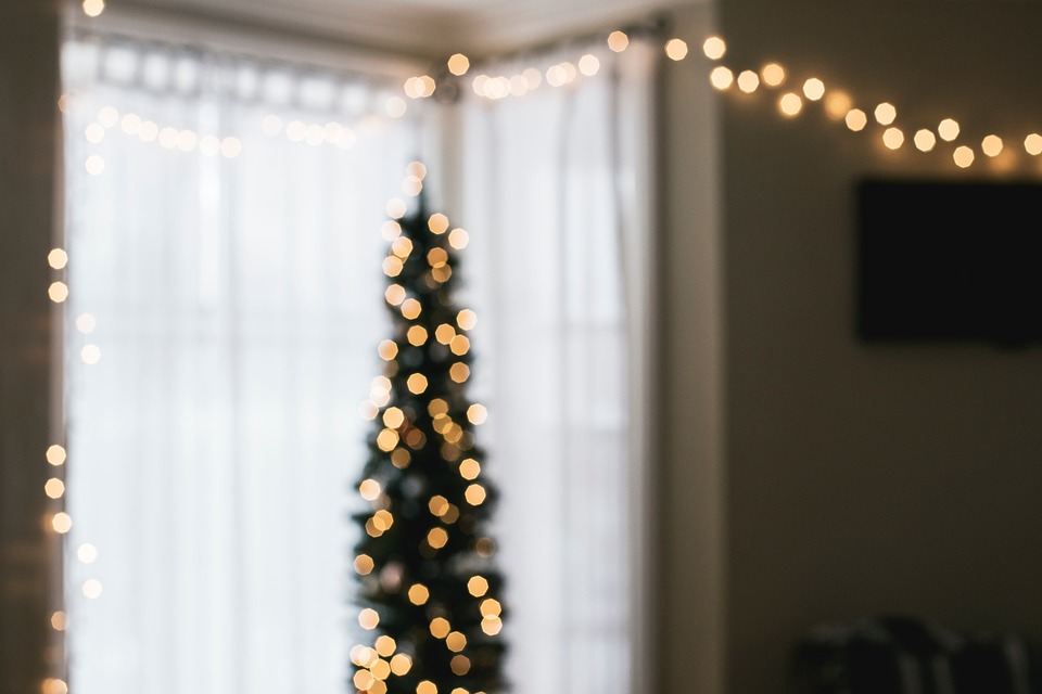 House Interior Design Christmas Lights Window