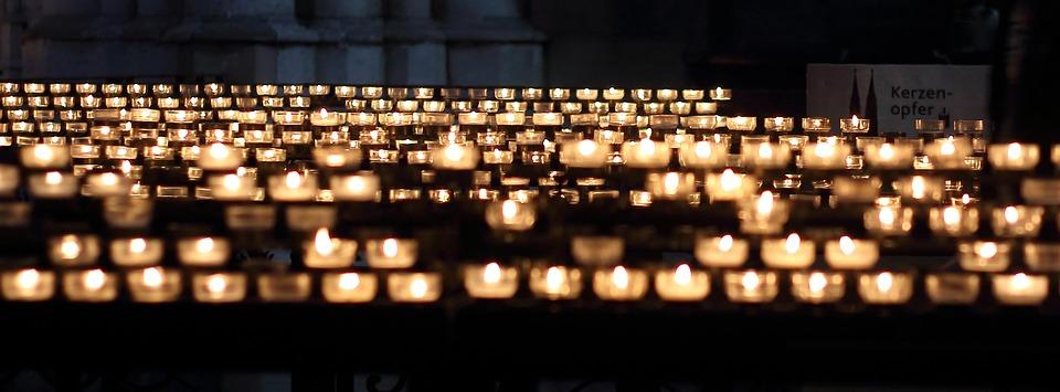Candles, Church, Prayer, Lights, Candlelight