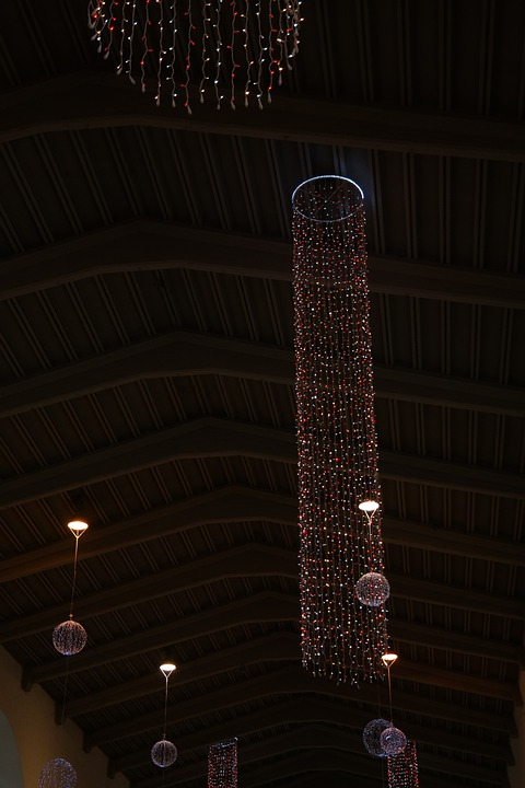 Christmas Decoration, Lights, Lighting, Concourse