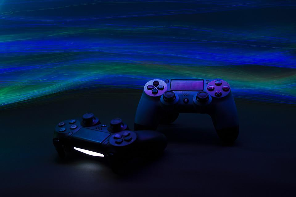 Game Console, Controller, Video Games, Lights, Neon
