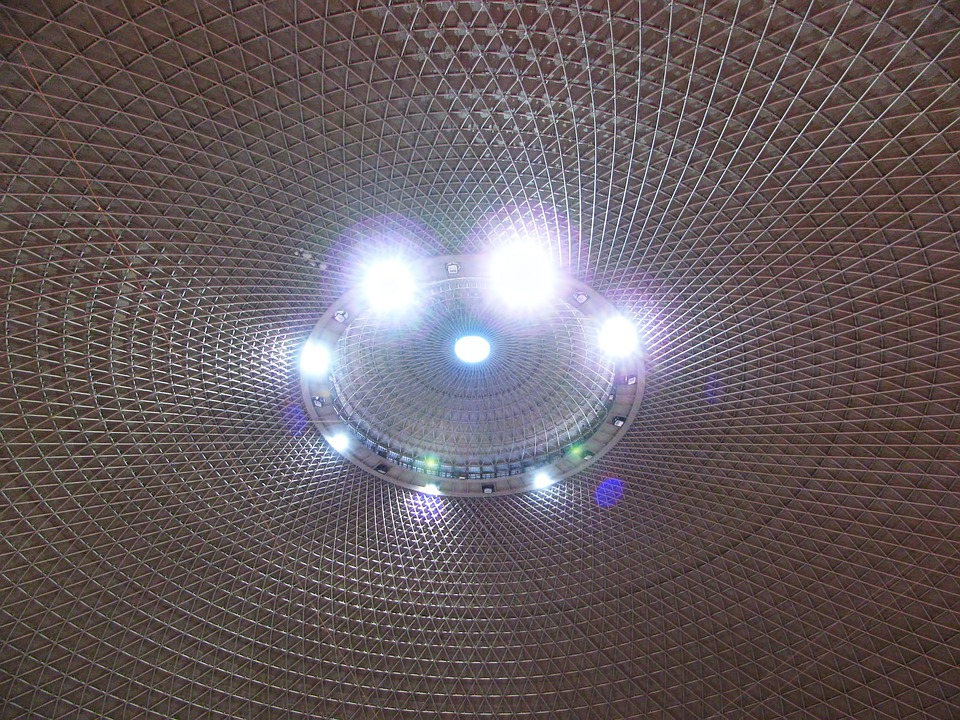 Hall, Interior, Lights, Architecture, Ceiling, Building