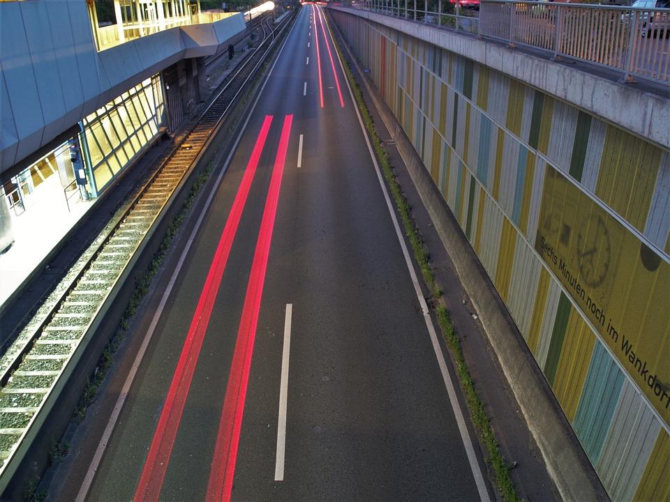 Highway, Autos, Traffic, Lights