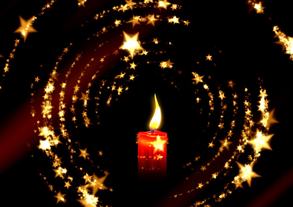 Candle, Advent, Christmas, Lights, Star, Lichterkette