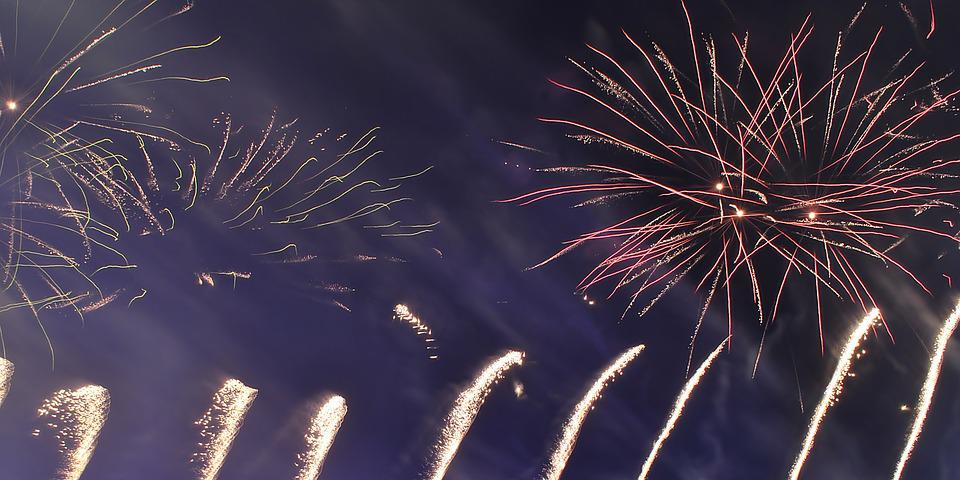 Fireworks, Night, Pyrotechnics, Lights, Light, Bright