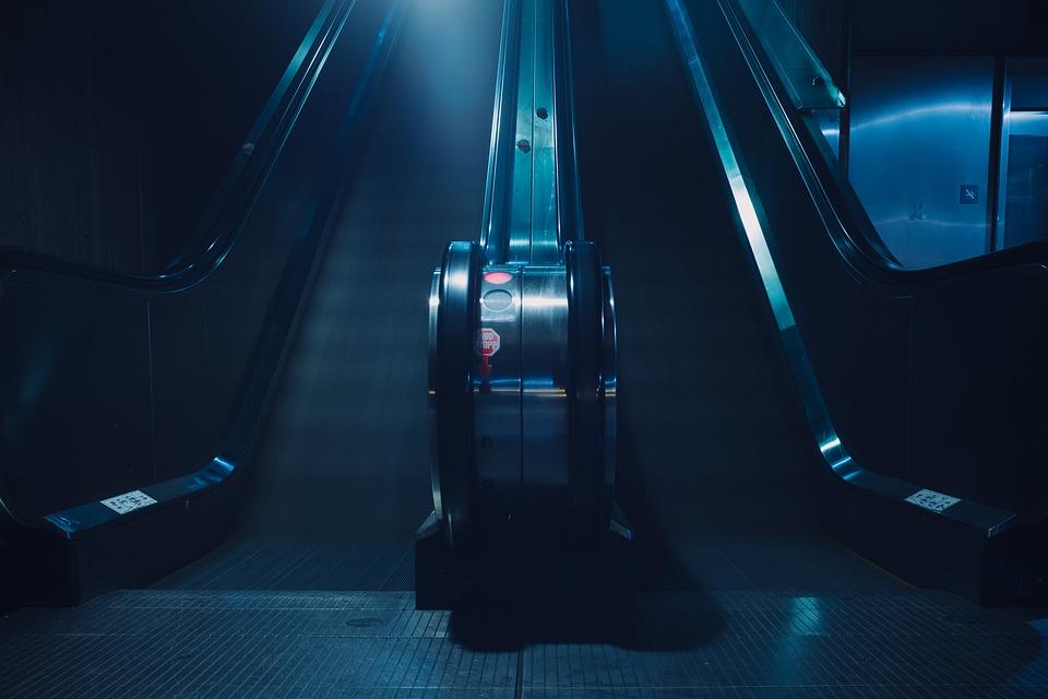 Stairs, Long Exposure, Metro, Subway, Metal, Lights