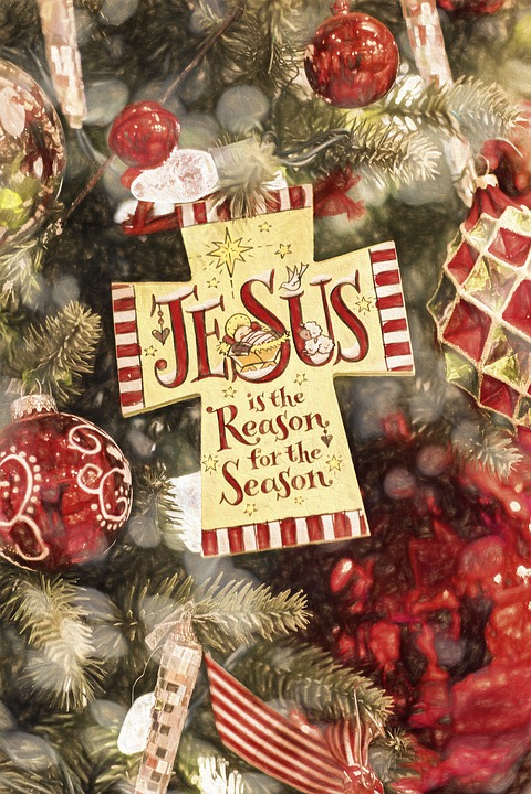 christmas jesus ornament tree lights religious