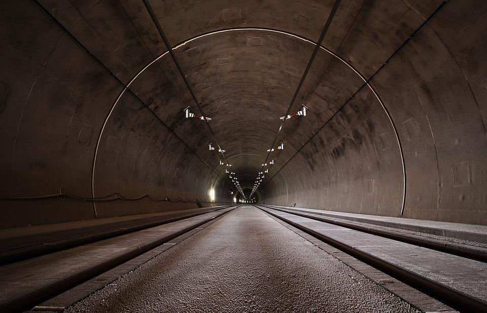 Concrete, Lights, Perspective, Tunnel, Brown Light