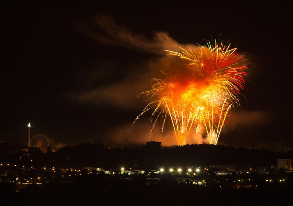 Fireworks, Folk Festival, Fun, Pleasure, Lights, Fair