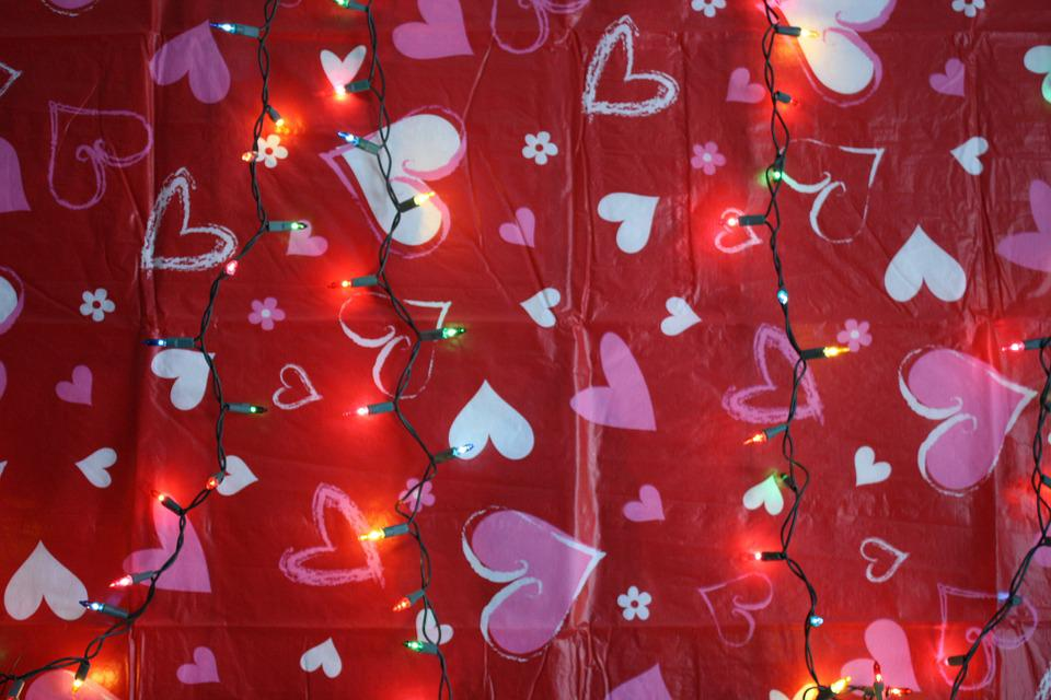 Valentine, Valentines Day, Red, Pink, Hearts, Lights