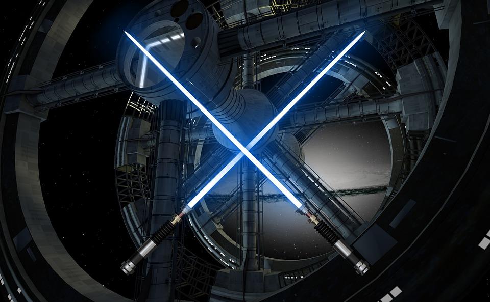 Star Wars, Laser, Lightsaber, Power, Weapon, Blue Stars