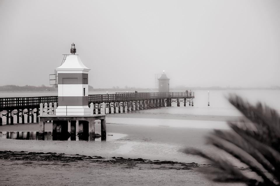 Lignano, Lignano Sabbiadoro, Lighthouse, Sea, Sky