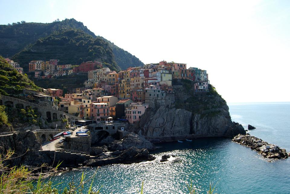 Cinque Terre, Liguria, Houses, Sea, Mountain, Colors