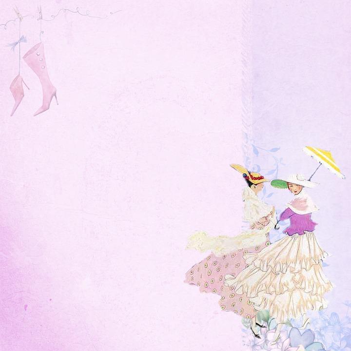Dancing, Lady, Feminine Paper, Lilac, Soft, Romantic