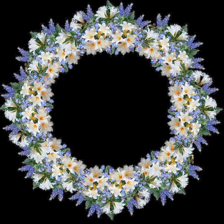 Frame, Border, Flowers, Lilies, Veronica, Decoration