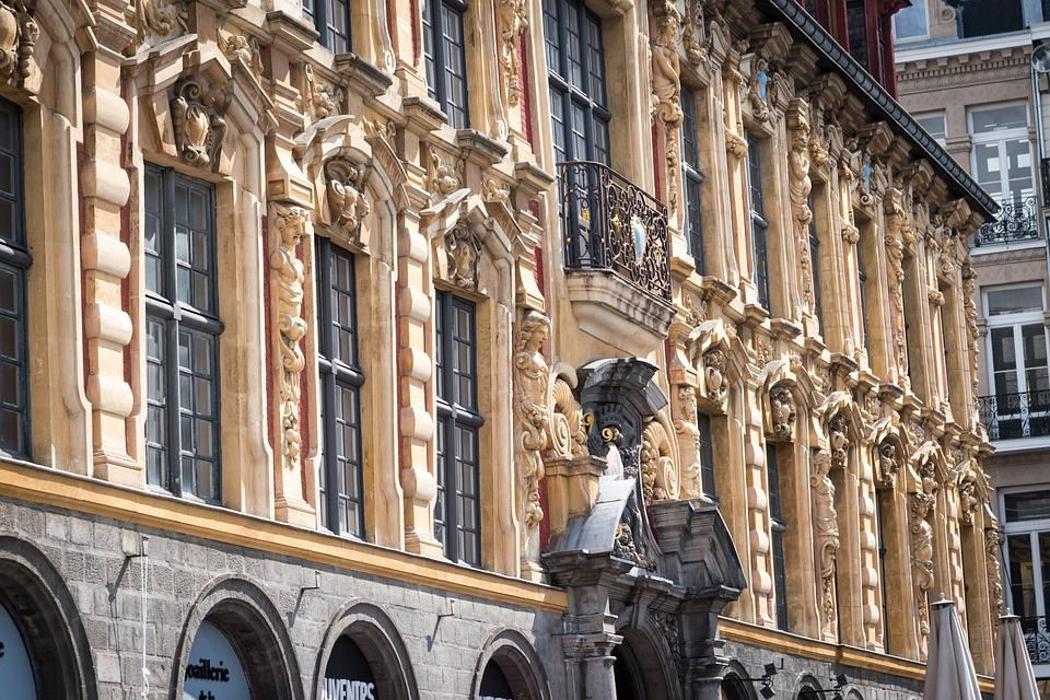 Facade, Lille, Old Stock Exchange, France, North