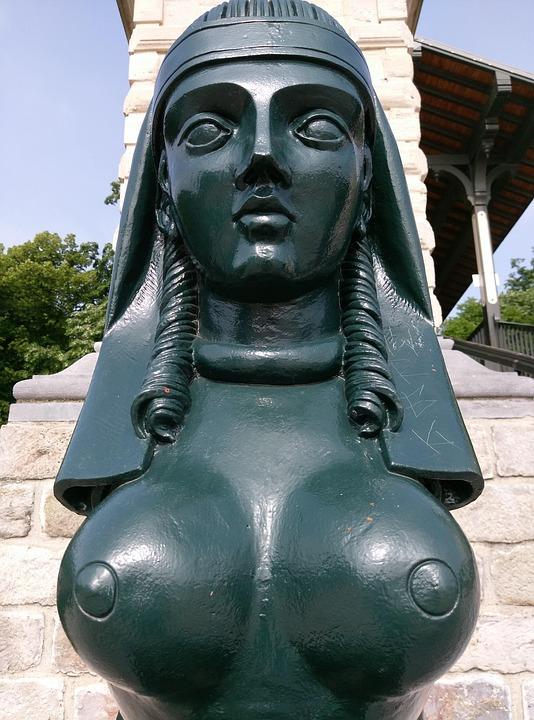 Pont Napoleon, Lille, Sphinx, Woman, Bridge, Emblem