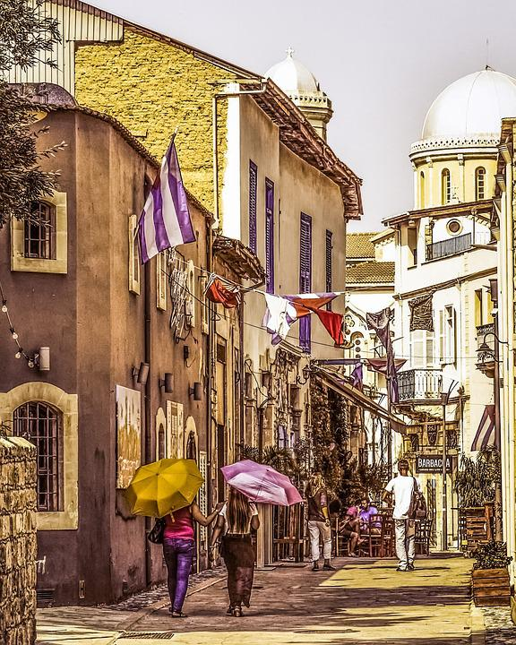 Cyprus, Limassol, Old Town, Street, Architecture