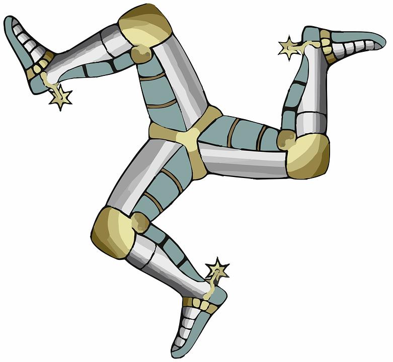 Triskelion, Legs, Feet, Limbs, Three, Star, Man