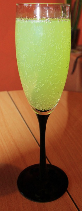 Champagne Glass, Glass, Drink, Lime, Cocktail