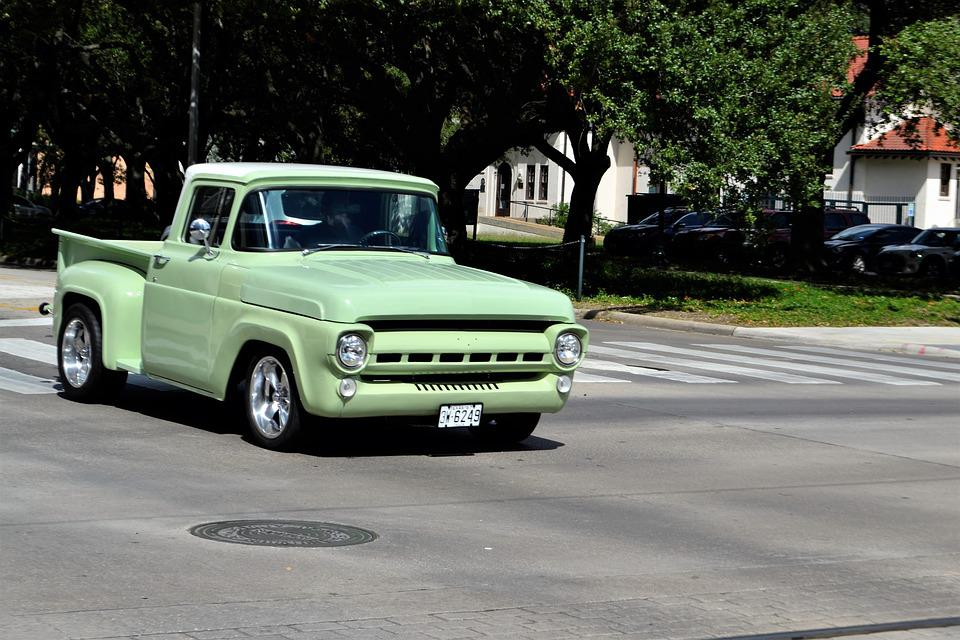 Free photo Lime Green Old Restored Vintage Pick-up Truck Green - Max ...