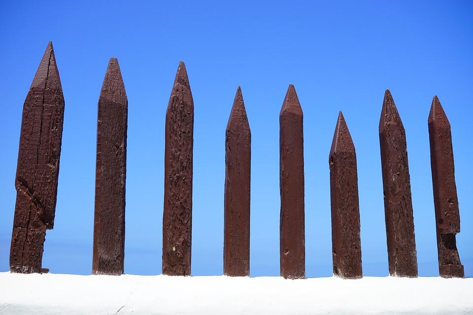 Fence, Wood Fence, Limit, Demarcation, Wood, Pole Fence