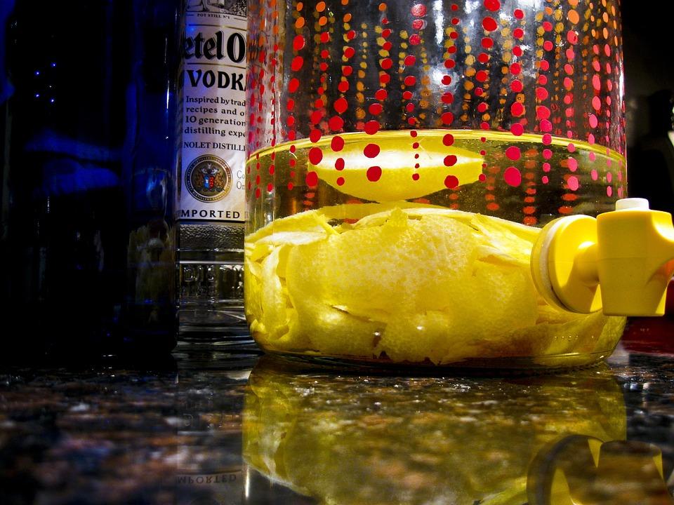 Vodka, Lemon, Lemon Cello, Limoncello, Alcohol, Glass