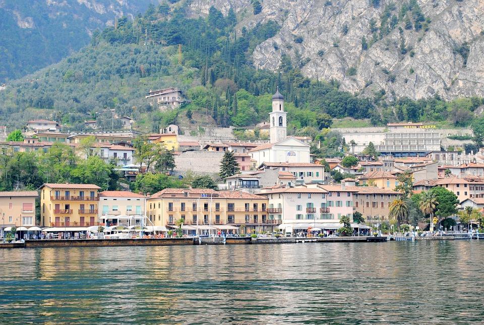 Limone, Garda, Italy, Coast, Port