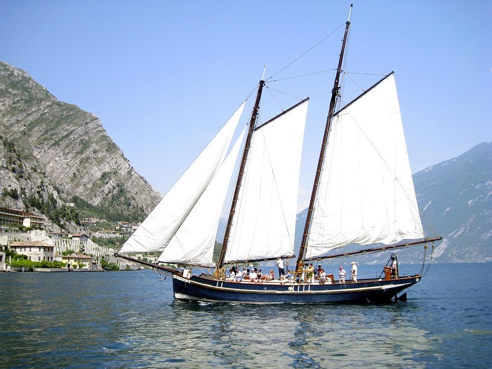 Ship, Garda, Italy, Sailing Boat, Limone