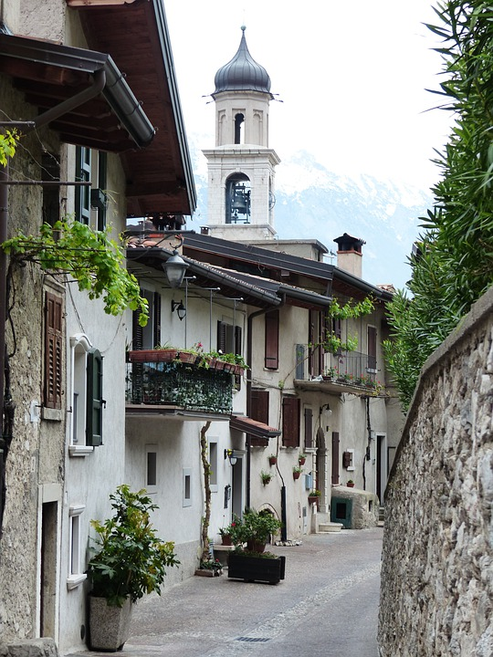 Md Church Of San, Alley, Road, Homes, Limone Sul Garda