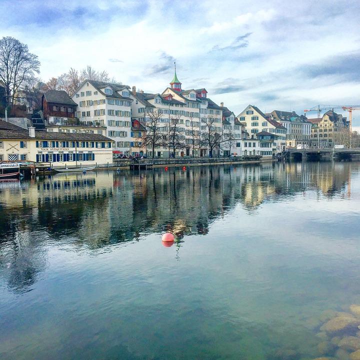 Zurich, River, Water, Switzerland, Swiss, Lindenhof