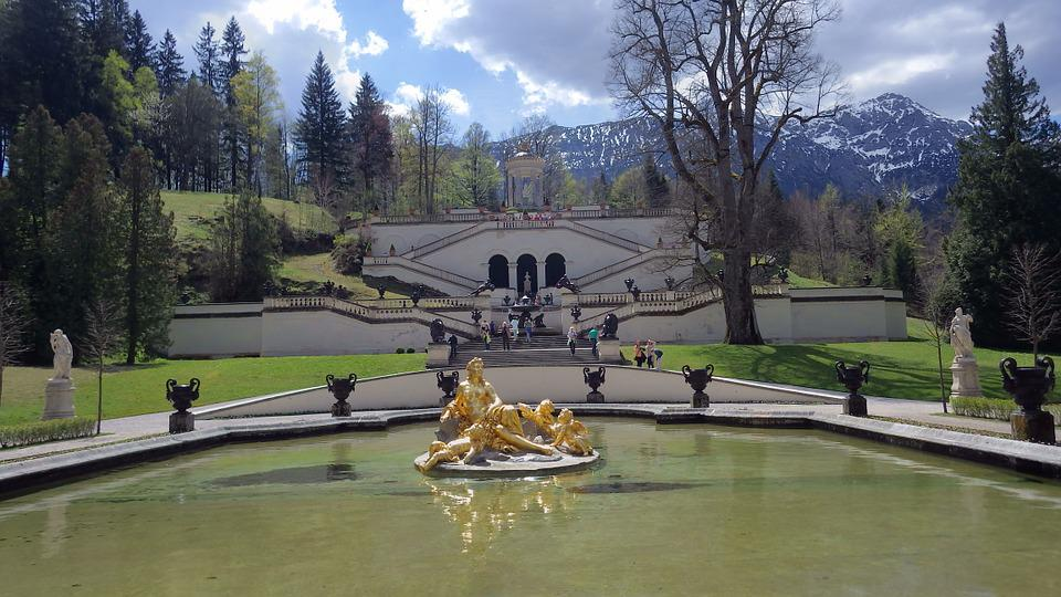 Linderhof Palace, Garden, Fountain