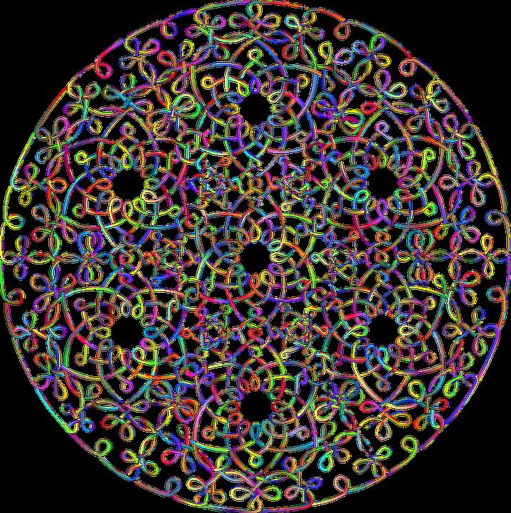 Mandala, Knots, Interlaced, Line Art, Stencil, Abstract