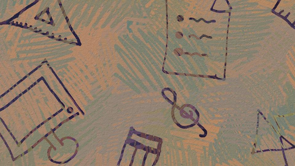 Doodle, Hand Drawn, Line Art, Whimsical, Purple