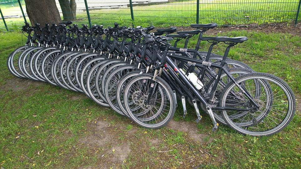 Wheels, Bicycles, Bike, Fillarit, Line, Lawn, Chain