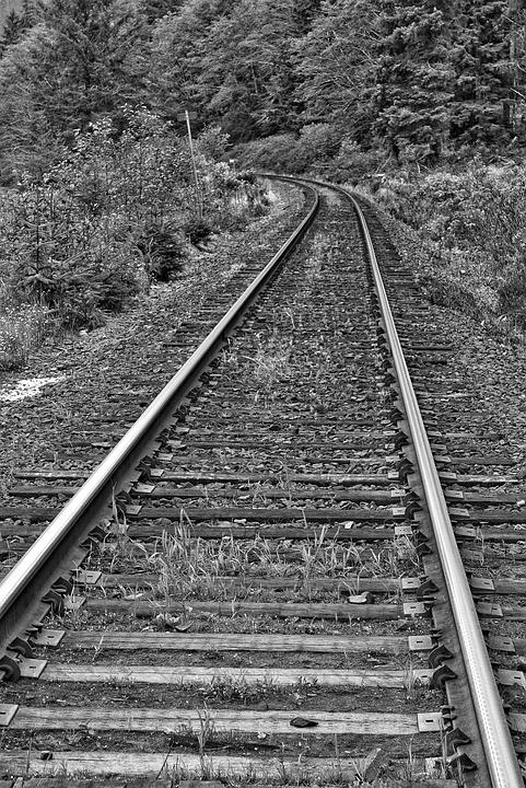 Railway Line, Perspective, Train Track, Line, Rail