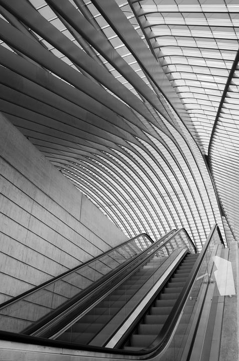 Architecture, Building, Repetition, Lines, Station